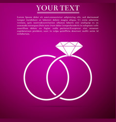 wedding rings icon marriage icon diamond ring vector image