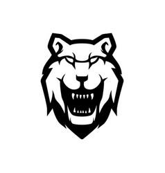 wolf mascot logo vector image