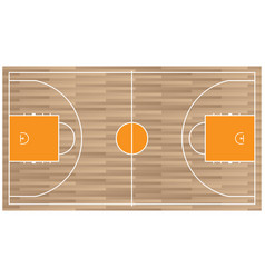 Wooden baseball court top view icon isolated on vector
