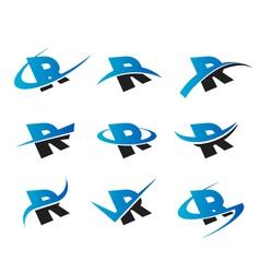 Alphabet R Logo Icons vector image vector image