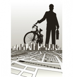 city biker vector image