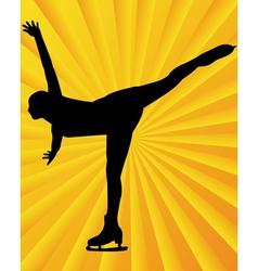 figure skater3 vector image vector image