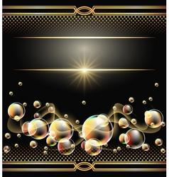 glowing bubbles vector image vector image