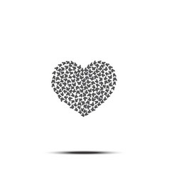 heart of butterflies love symbol vector image