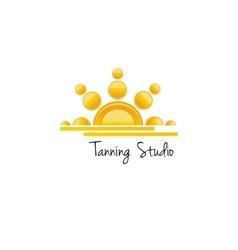 Tanning studio logo concept vector