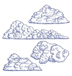 Clouds Hand Draw Sketch vector image