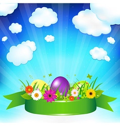 Easter ard Template vector image vector image