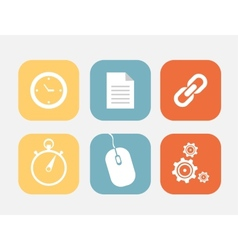 Flat icons set vector image vector image