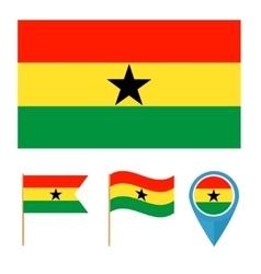 Ghana country flag vector image