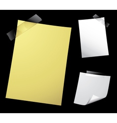 note paper on black vector image