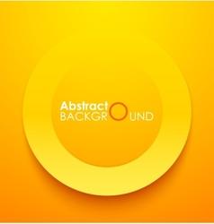 Paper orange circle banner with drop shadows vector image