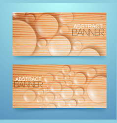 water drops and bubbles banners set vector image vector image