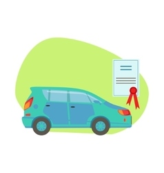 Car protected by insurance contract insurance vector