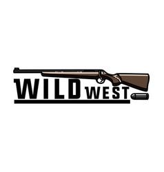 color vintage wild west emblem vector image vector image