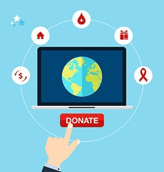 Concept for charity online service medical vector