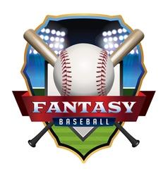 Fantasy Baseball Badge vector image vector image
