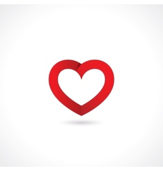 paper red heart vector image