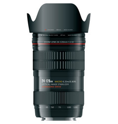 Professional zoom lens vector