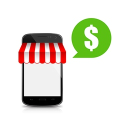 Shop mobile smart phone 002 vector image vector image