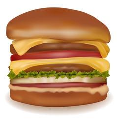 big cheeseburger vector image vector image
