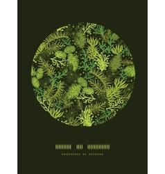 Evergreen christmas tree circle decor pattern vector image