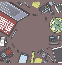 professional journalism background with space vector image