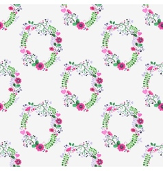 Seamless watercolor pattern with gorgeus flower vector image vector image