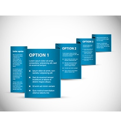 Set of Blue Sample option paper origami vector image vector image