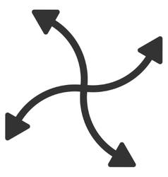 Swirl arrows icon vector
