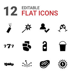 12 new icons vector