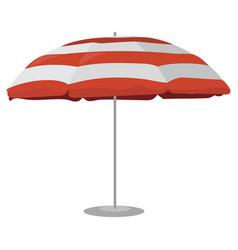 a beach umbrella cartoon drawing vector image
