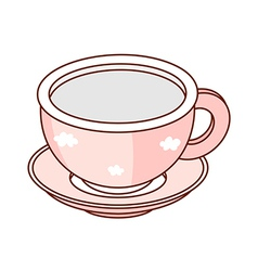 A cup and saucer vector