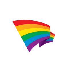 a rainbow flag vector image
