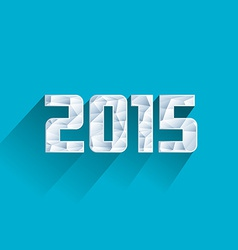 abstract ice polygonal 2015 New Year vector image