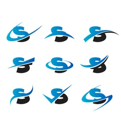Alphabet s logo icons vector