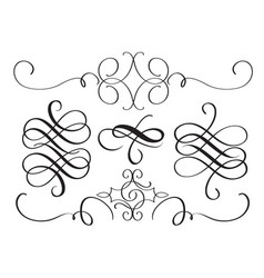 Art calligraphy flourish of vintage decorative vector