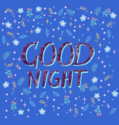background with text good night vector image