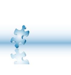 Balancing puzzle piece vector