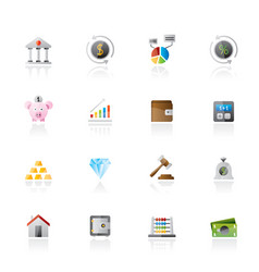 bank financial and investment icons vector image