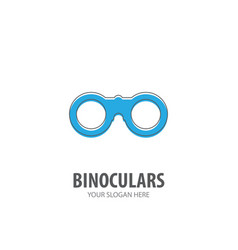 binoculars logo for business company simple vector image