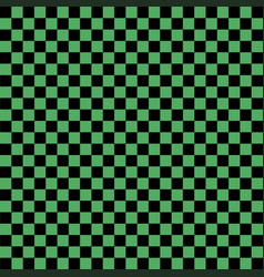 Black and green checkered background vector