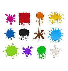 blots set volume colorful isolated vector image