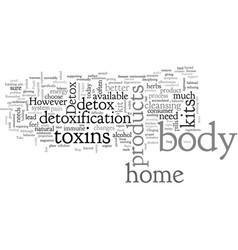 Body detox home kit vector