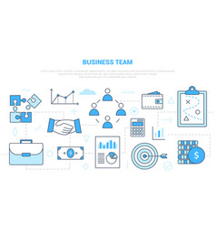 Business team concept with icon set template vector
