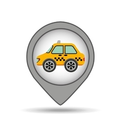 car taxi icon map pointer graphic vector image