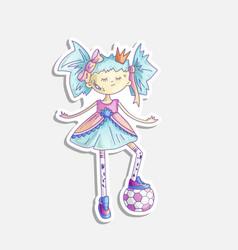 cartoon princess sassy girl vector image