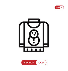 christmas sweater icon vector image