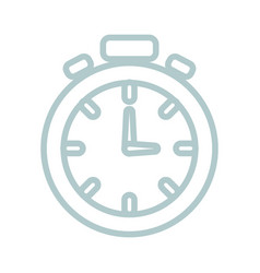 chronometer uncolored design vector image