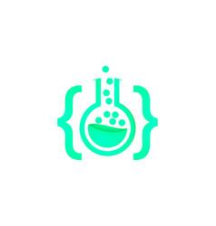 code lab logo inspiration isolated on white vector image