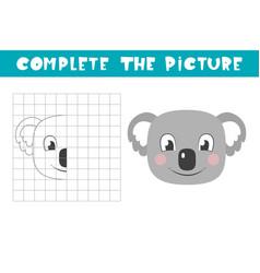 Complete picture a koala copy picture vector